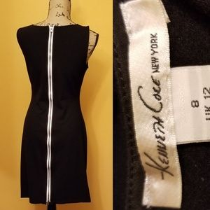 Kenneth Cole New York white zipper back dress Rk
